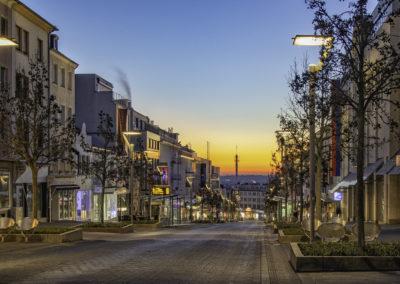 die Hindenburgstrasse bei Sonnenaufgang credit Theodor Krüppel