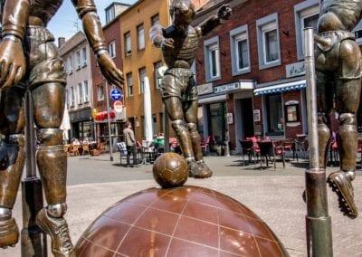 Teil der deutschen Fussballroute, Stadtteil Eicken in Mönchengladbach