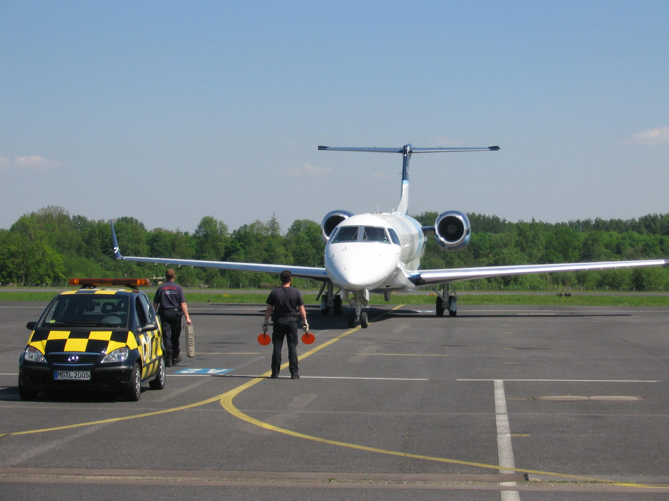 De luchthaven Mönchengladbach