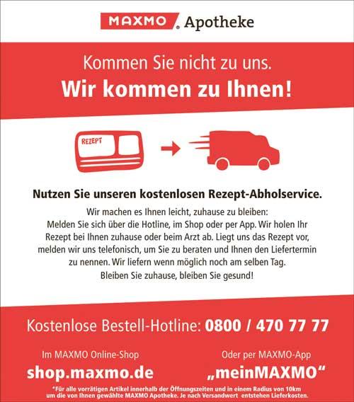 Angebot der MAXMO Apotheken