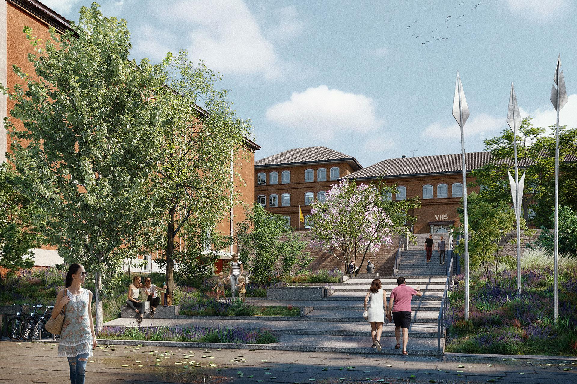 So soll der Hans Jonas Park in Mönchengladbach demnächst aussehen.