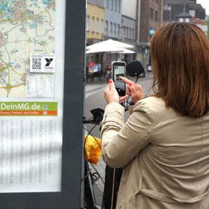 YONA App Stadtplan scannen